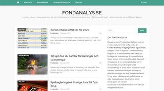 Earlier screenshot of fondanalys.se