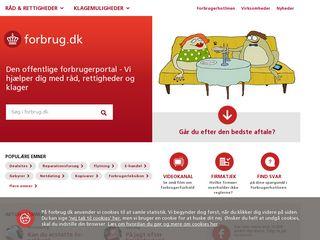 Earlier screenshot of forbrug.dk