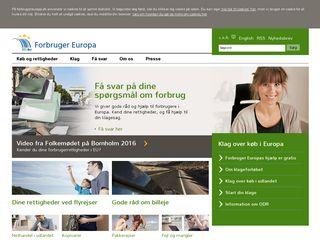 Earlier screenshot of forbrugereuropa.dk