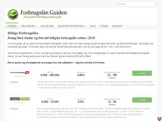 Earlier screenshot of forbrugslan-guiden.dk