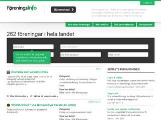 Earlier screenshot of foreningsinfo.se