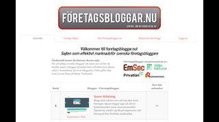 Earlier screenshot of foretagsbloggar.nu