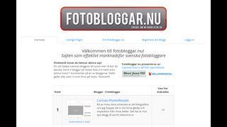 Earlier screenshot of fotobloggar.nu