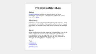Earlier screenshot of franskainstitutet.se