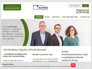 Earlier screenshot of frederikssundadvokaterne.dk