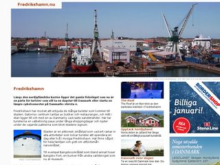 Earlier screenshot of fredrikshamn.nu
