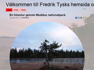 Earlier screenshot of fredriktysk.se