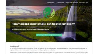 Earlier screenshot of freshface.se
