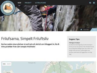 Earlier screenshot of frilufsarna.se