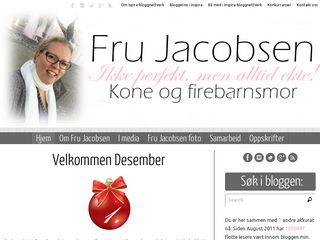 Earlier screenshot of frujacobsen.no