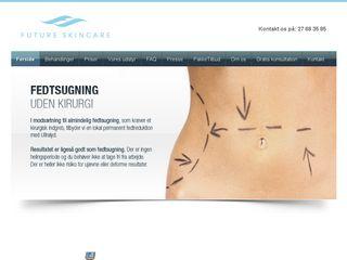 Earlier screenshot of futureskincare.dk