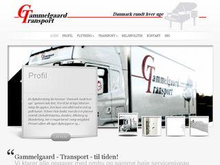 Earlier screenshot of gammelgaardtransport.dk