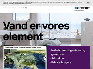 Earlier screenshot of geberit.dk