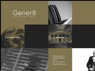 Earlier screenshot of gener8.no