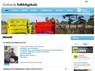 gotlandsfolkhogskola.se
