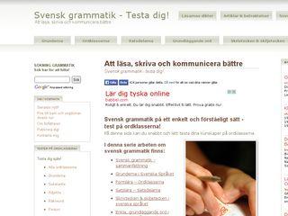 Earlier screenshot of grammatiktest.se