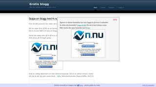 Earlier screenshot of gratisblogg.info
