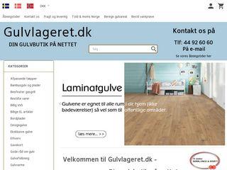 Earlier screenshot of gulvlageret.dk