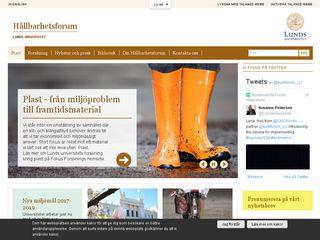 Earlier screenshot of hallbarhet.lu.se