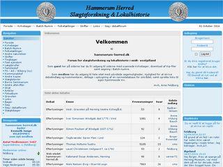 Earlier screenshot of hammerum-herred.dk