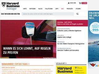 Earlier screenshot of harvardbusinessmanager.de
