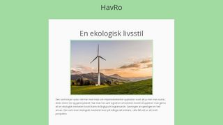 Earlier screenshot of havro.se