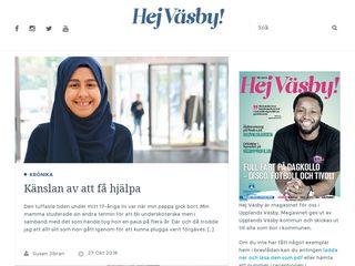 Earlier screenshot of hejvasby.se