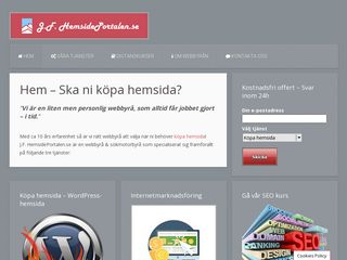 Earlier screenshot of hemsideportalen.se