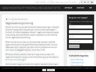 Earlier screenshot of henrik-bondtofte.dk