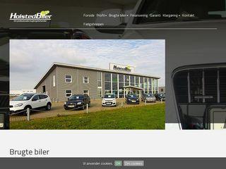 Earlier screenshot of holstedbiler.dk