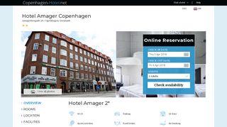 Earlier screenshot of hotel-amager.copenhagen-hotel.net