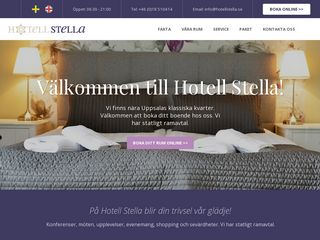 Earlier screenshot of hotellstella.se
