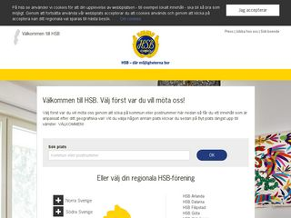 Earlier screenshot of hsb.se