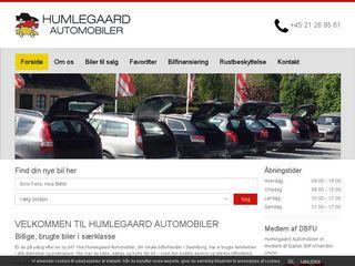 Earlier screenshot of humleauto.dk