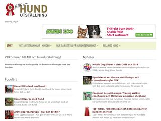 Earlier screenshot of hundutstallning.se