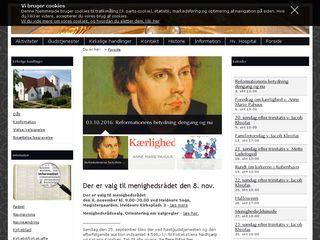 Earlier screenshot of hvidovrekirke.dk
