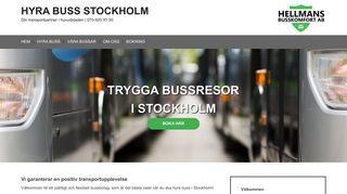 Earlier screenshot of hyrabussstockholm.se