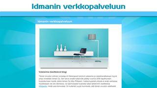 Earlier screenshot of idman.fi