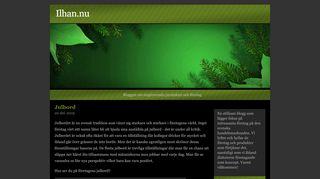 Earlier screenshot of ilhan.nu