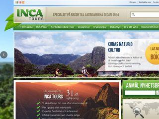 Earlier screenshot of inca.se