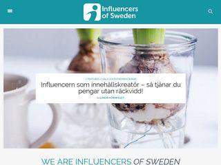 Earlier screenshot of influencersofsweden.se