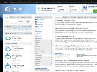 Earlier screenshot of inorge.net