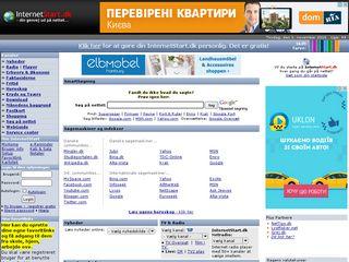 Earlier screenshot of internetstart.dk
