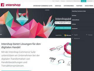 Earlier screenshot of intershop.de