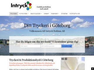 Earlier screenshot of intryck-reklam.se