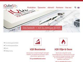 Earlier screenshot of iqubes.no