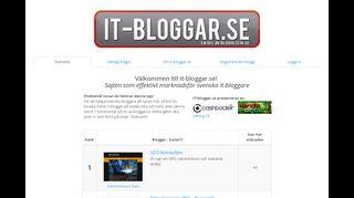 Earlier screenshot of markusekegren.se