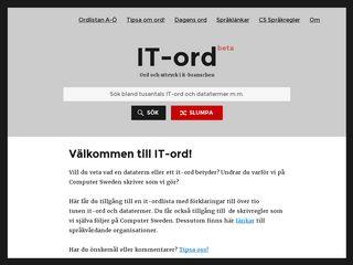Earlier screenshot of it-ord.idg.se