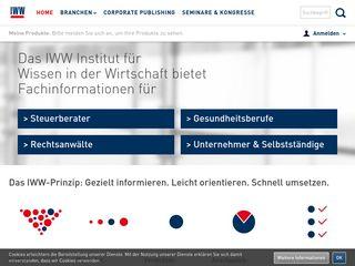 Earlier screenshot of iww.de