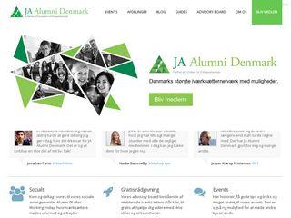 Earlier screenshot of jaalumni.dk